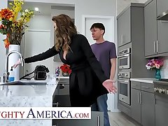Naughty America Cougar has a college boy take play host to her wet pussy