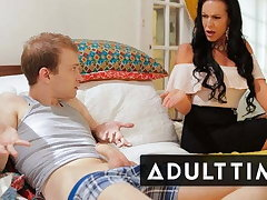 Turned Fapping - Stepmom Teaches Step-Son How to Fuck