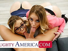 Naughty America, Katie Kush and Kenzie Madison enjoyment from convenient situation