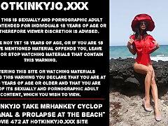 Hotkinkyjo take mrhankey cyclop dildo anal & prolapse public