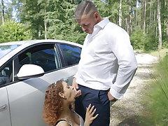 Car breakdown with Cum!