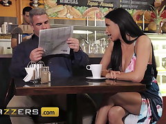 Horny Babe Anissa Kate Teases Her Husband On tap A Local Coffee Shop