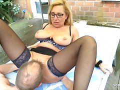 German Mature Wife Has Cheating Sex Helter-skelter The Garden Round The Neighbor