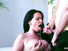 German Mother Surprises Stepson with a Blowjob on his Birthday