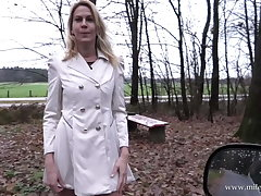 Hot German beauteous gets fucked in public !!
