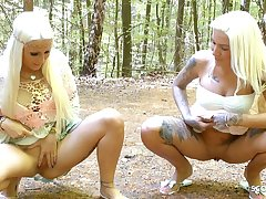 German Teens Madina Fynja increased by Tight Tini are Peeing Not at home