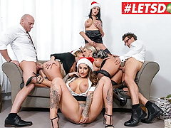 LETSDOEIT - Christmas Situation Orgy At hand Mia Blow & Their way Girls