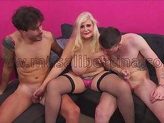 Porn Casting - 2 hard dicks for Musa Libertina