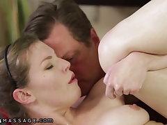Horny Teen Dirty Talks Her Stepdad Into Sex Massage