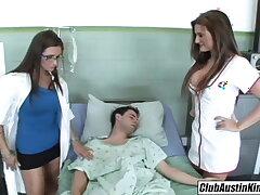 Big titty provide for Austin Kincaid, female doctor fucks big rod