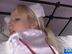 EVA ENGEL: Nurse gets a second cum load in her pussy