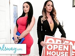 GIRLSWAY – Sheena Ryder Tries The Bed With The Estate Agent