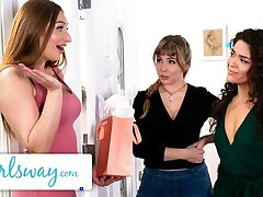 GIRLSWAY – Lena Paul's Wet Triumvirate Fare well Faculty Surprise