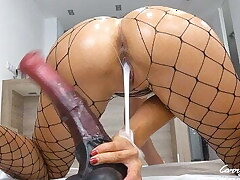 Teen Pounded with Massive Horse Cock Dripping Creampie Only