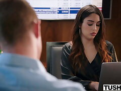 TUSHY Anal-obsessed Vanessa seduces her hot coworker Oliver