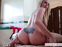Gaffer beauteous housewife Christie Stevens swell up weasel words fro POV
