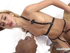 Interracial hardcore foursome shows slut Katrin Tequila fuck 3 black dicks