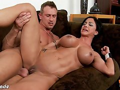 Chesty brunette Jewels Jade gets ass fucked