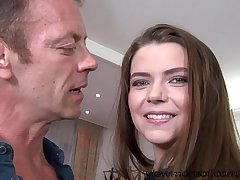 Gorgeous girl Marina Visconti gets a hardcore sex with Rocco in POV style