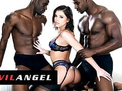 EvilAngel -  Adriana Chechik Squirts While Drilled By 2 BBCs