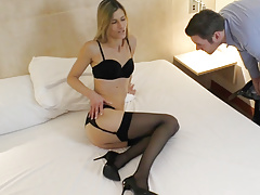 Skinny Sexy Intrigue Lady Meets User From Internet