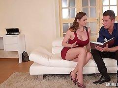Mom Next door Cathy Heaven goes wild in DP Threesome