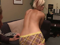 Hot small tits tutor girl takes the big cock while studying