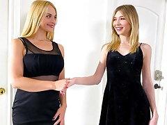 Hot Waitress Sarah Vandella Wants To Experiment With Girls
