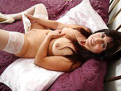 UK milf Lelani loves get under one's feel of a big dildo inside of her
