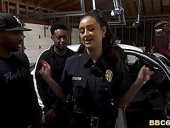 Police Officer Eliza Ibarra Deepthroats Every Chubby Inky Cock